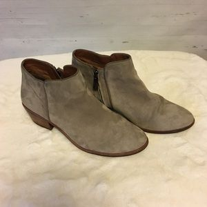Sam Edelman Taupe Suede Ankle Booties Size 7.5